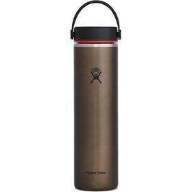 Hydro Flask Wide Mouth Trail Lightweight Bidón con Tapa Flex 709ml, marrón